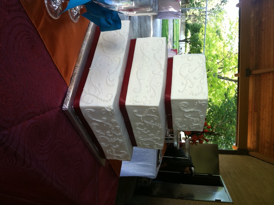 Square Wedding Cake, White On White on Cake Central