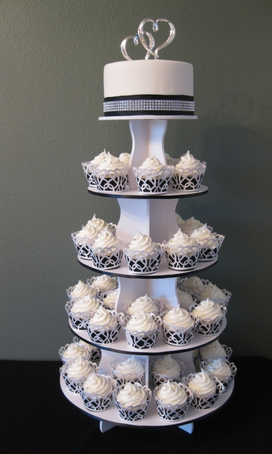 Cupcake Wedding Cake on Cake Central