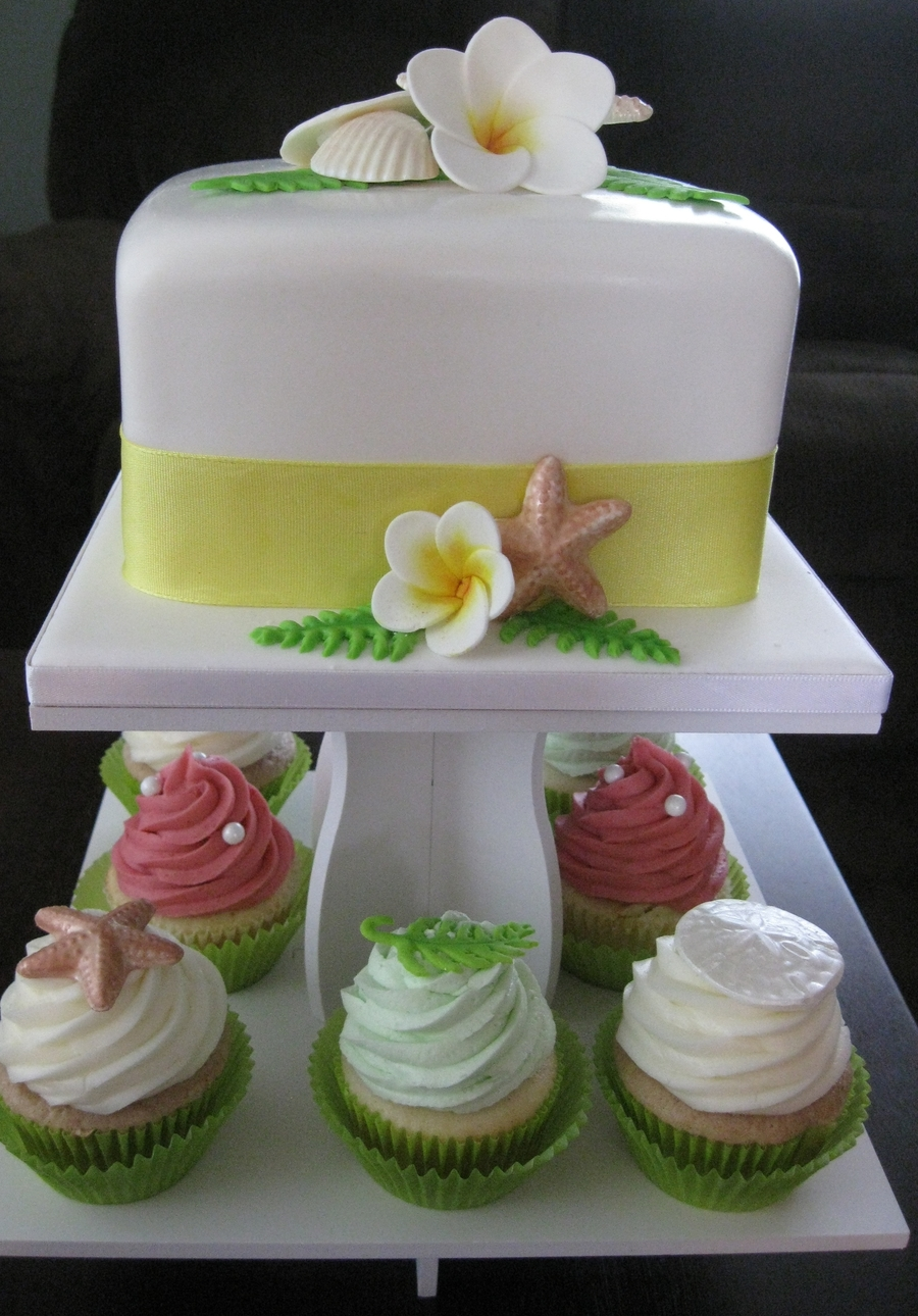 Seashell Themed Wedding Cupcakes on Cake Central