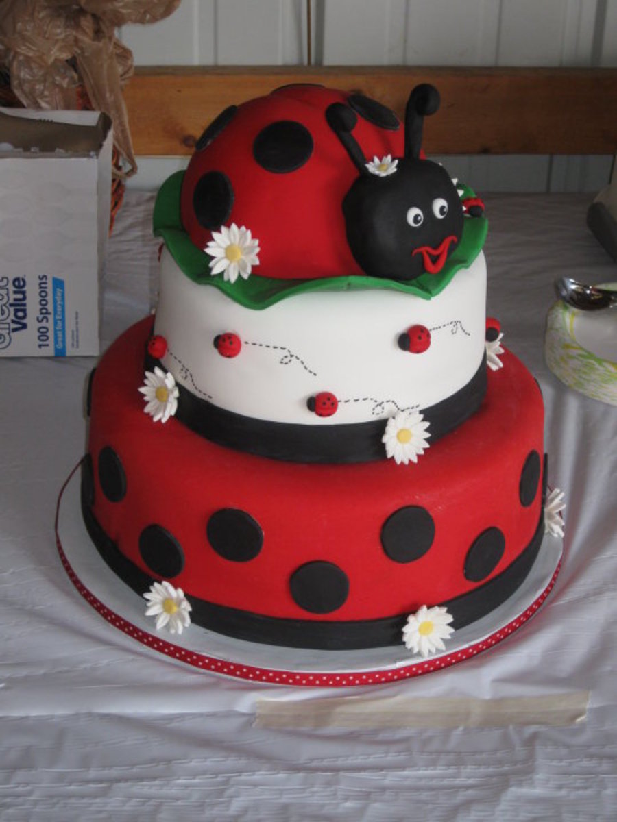3 Tier Ladybug Cake Cakecentral Com