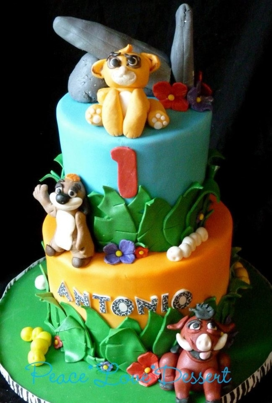 Lion King Inspired 1St Birthday Cake CakeCentralcom