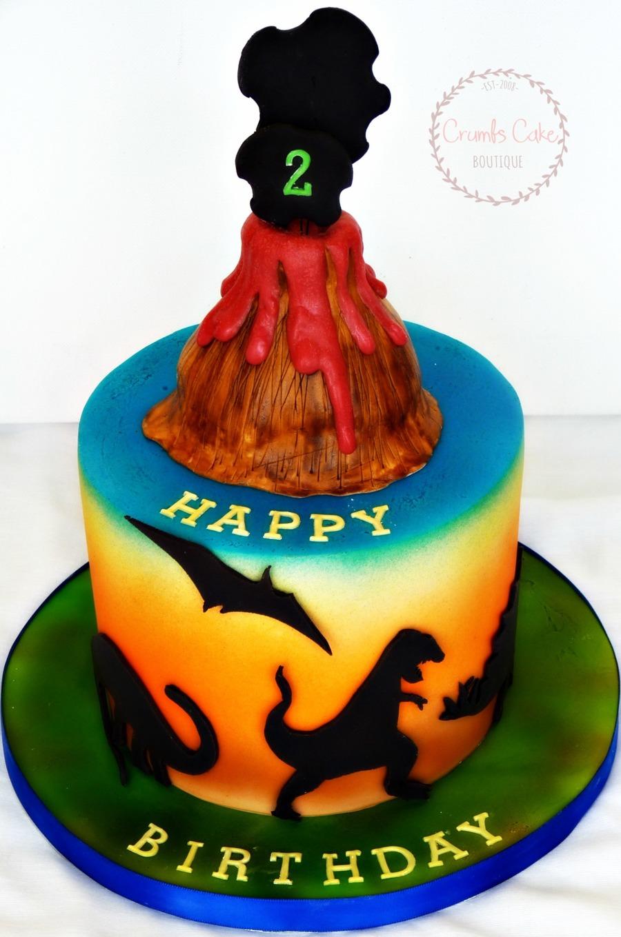 Dinosaur Themed Fondant Cake