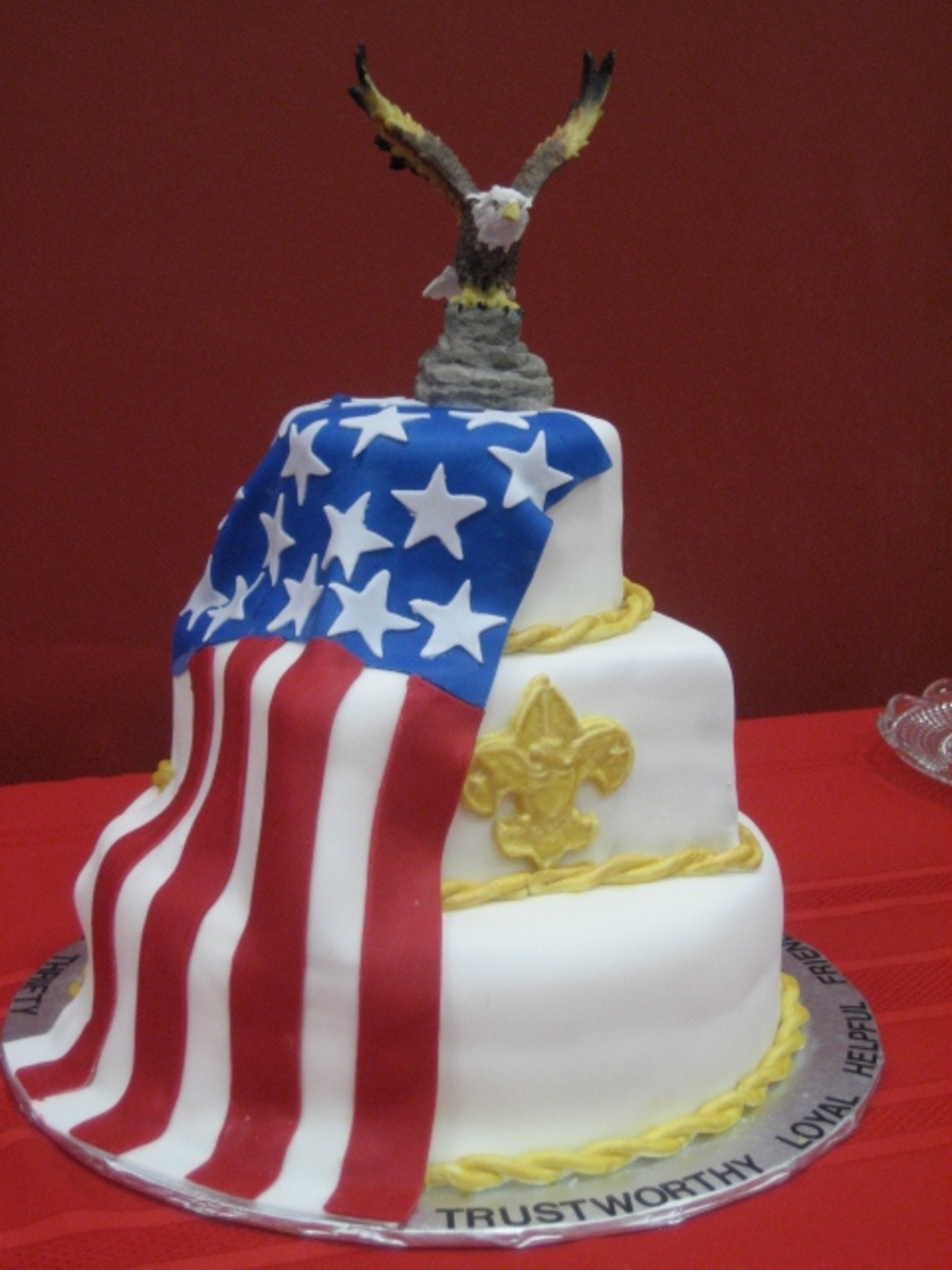 Cake Decorating Honor Pathfinders : Eagle Scout Court Of Honor Cake - CakeCentral.com
