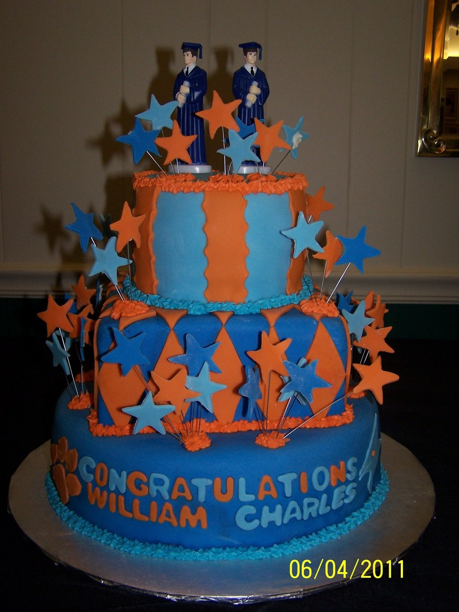 Graduation Cake For Twins on Cake Central