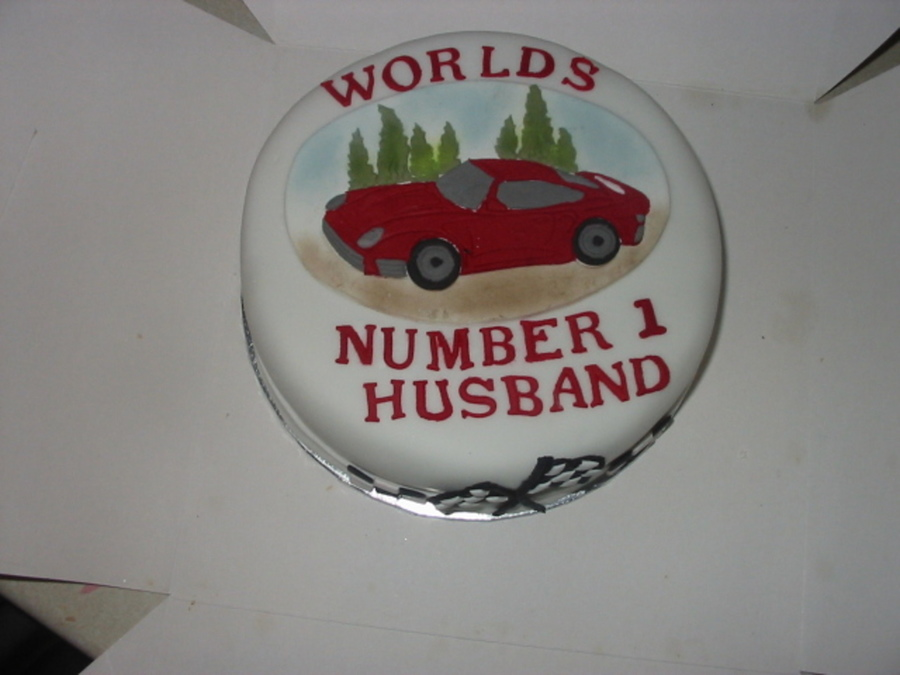 Sports Car on Cake Central