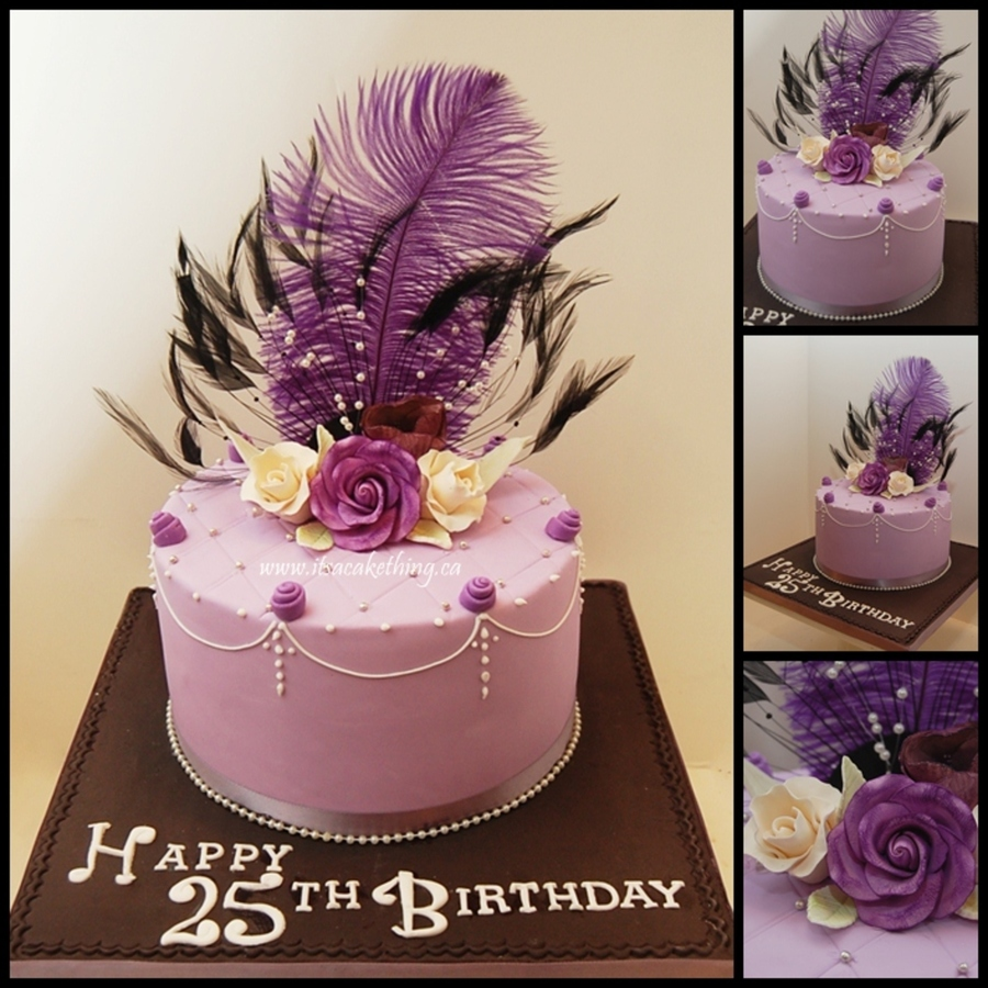 Sophisticated Birthday On Cake Central Feathers And Sophistication For This 25 Year Old