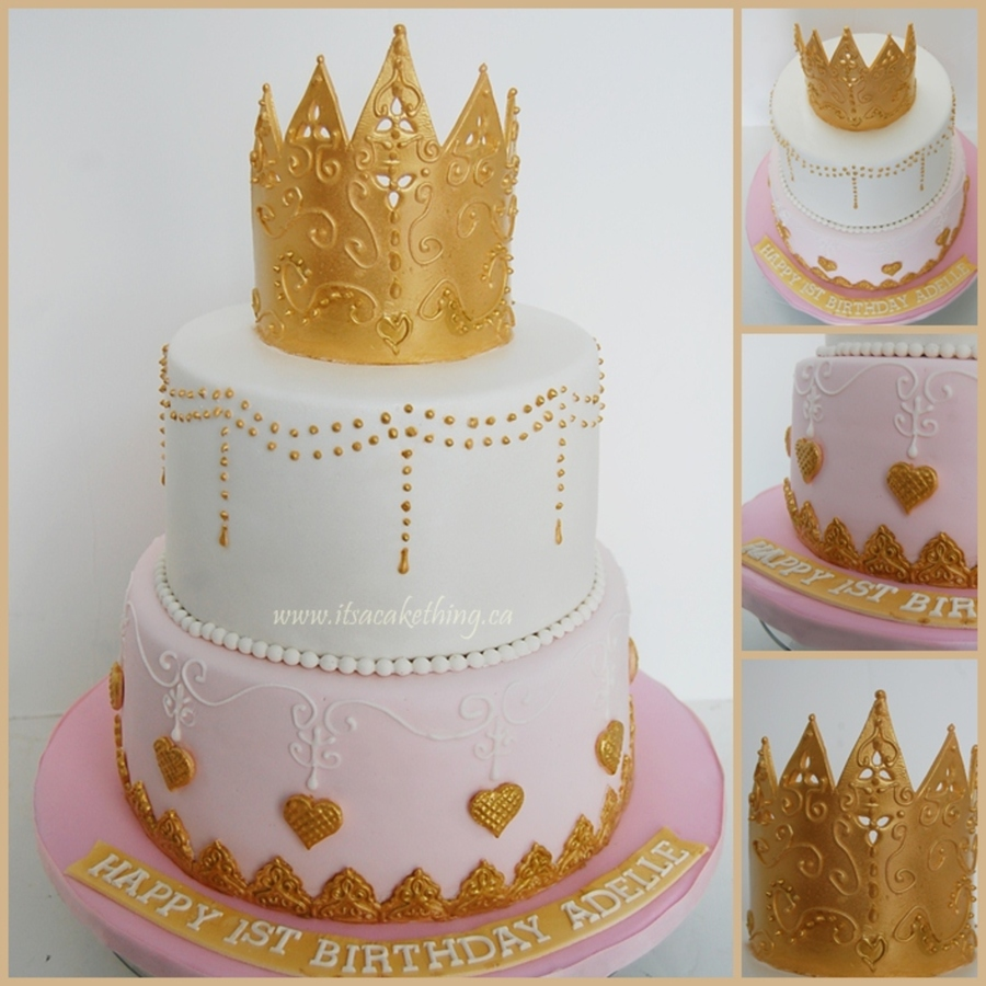 Amazing Fancy Princess Crown 1St Birthday Cake Cakecentral Com Funny Birthday Cards Online Alyptdamsfinfo