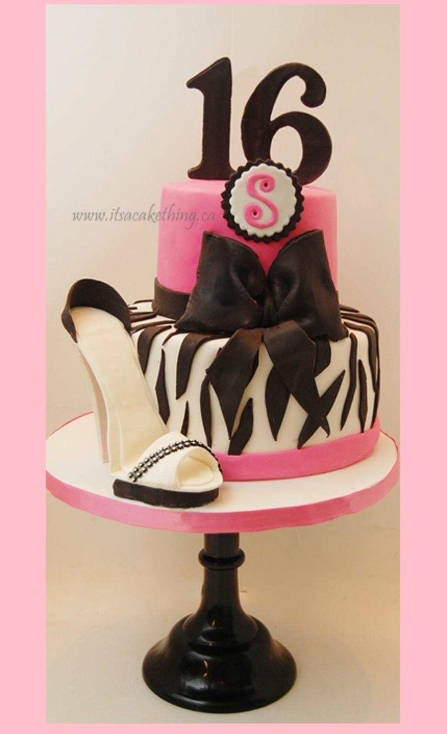 Stiletto Sweet 16 Birthday CakeCentralcom