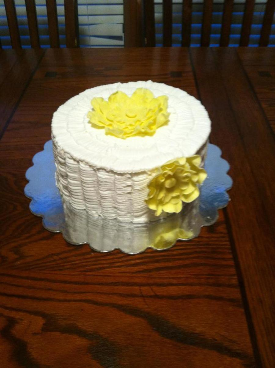 Ruffle Birthday Cake on Cake Central