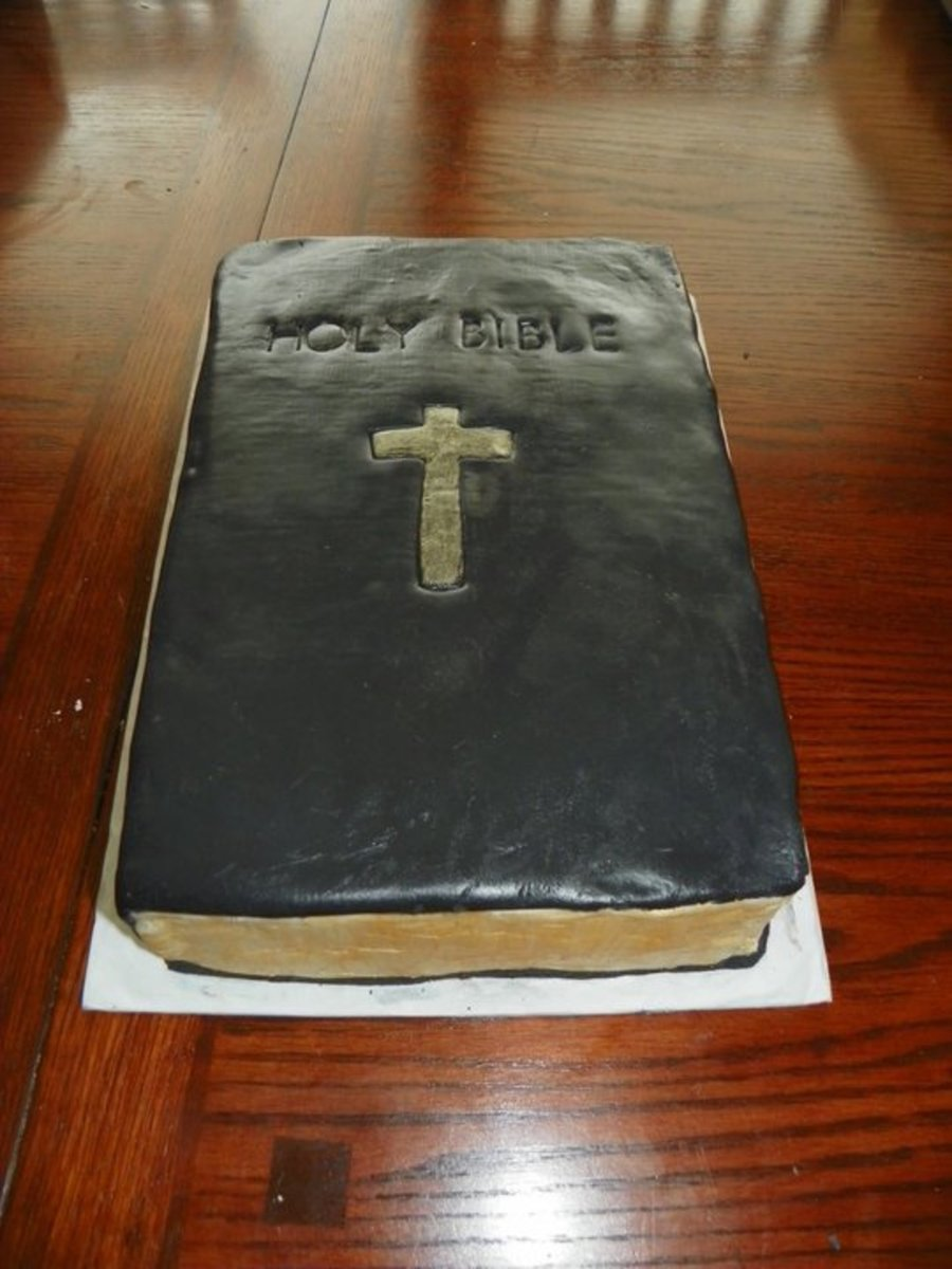 Bible Birthday Cake on Cake Central