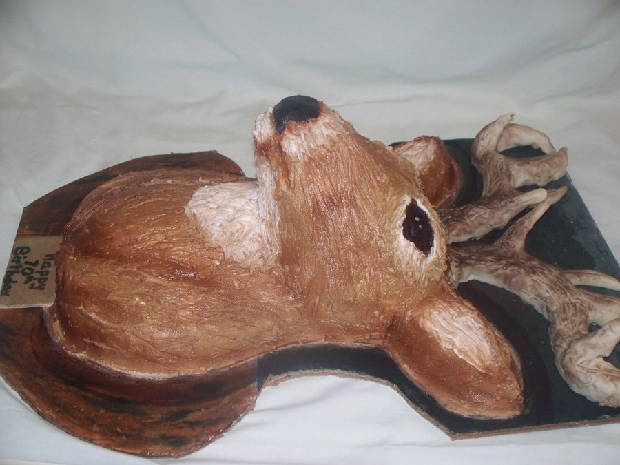 Mounted Deer Head Cake on Cake Central