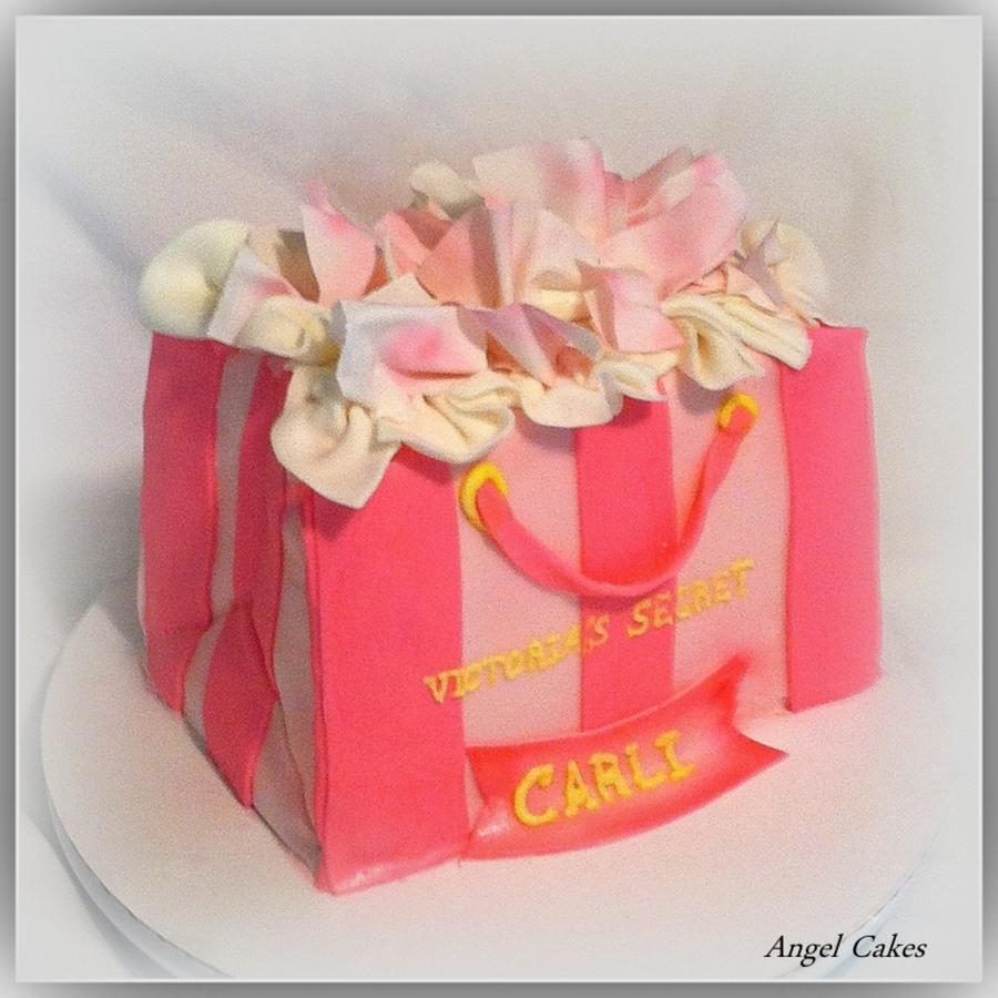 Victoria Secrets Gift Bag Cake