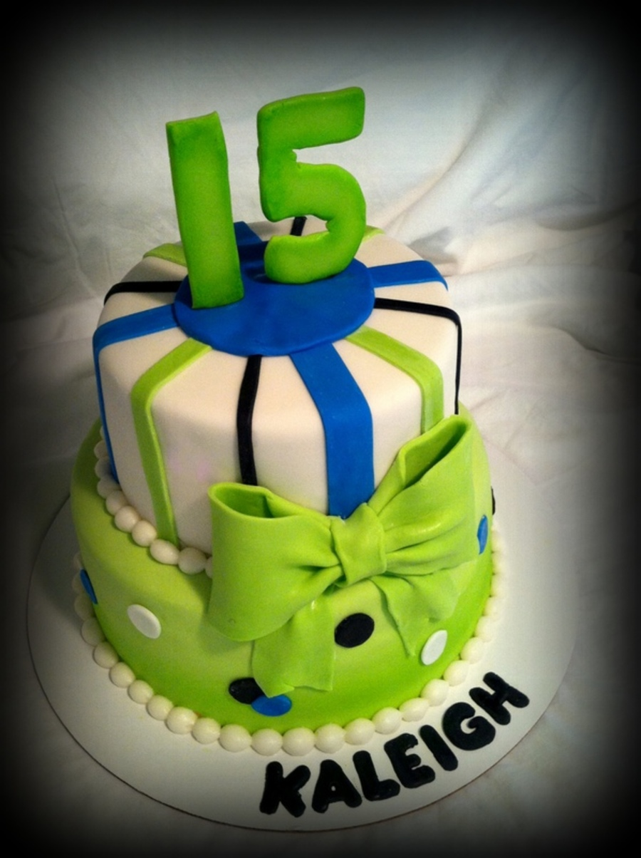 Lime Green Lovers Birthday Cake on Cake Central