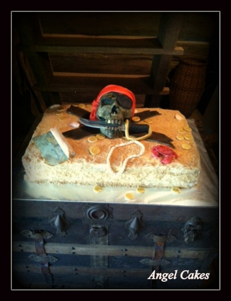 Pirate Groom's Cake on Cake Central