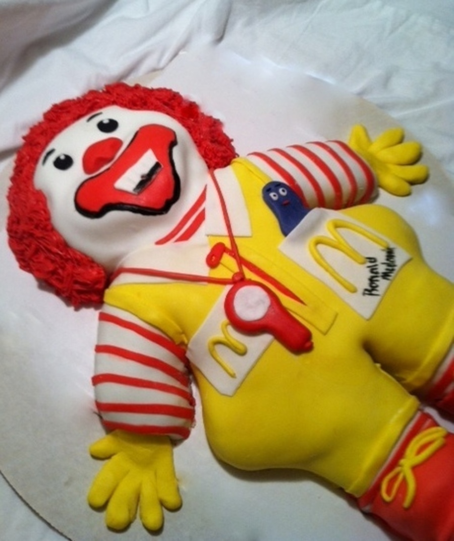 Ronald Mcdonald Vintage Toy Cake  on Cake Central