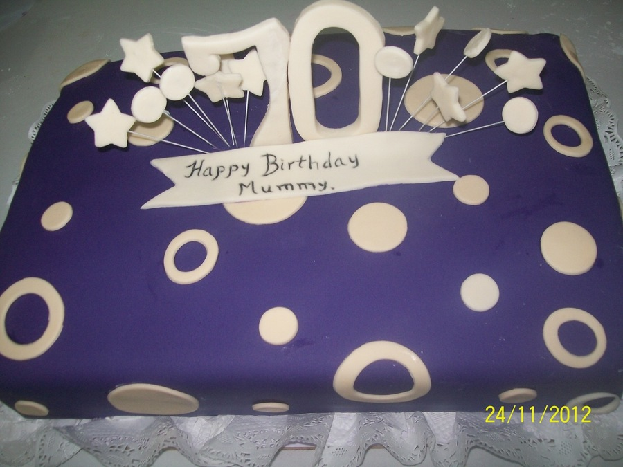 Birthday Acke For Very Modern Hip 70 Year Old Lady