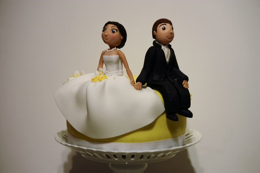 Bride & Groom Wedding Topper on Cake Central