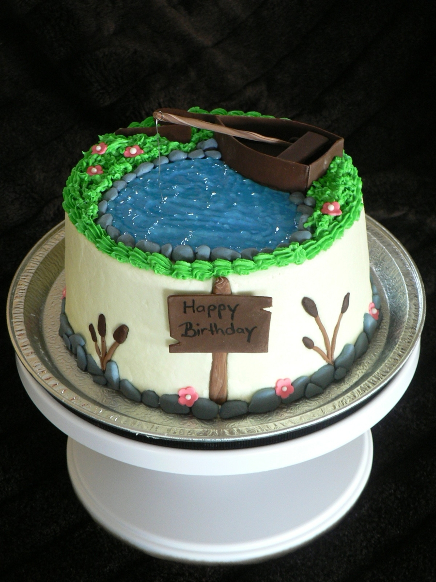 Fishing Themed Birthday Cake Cakecentral Com