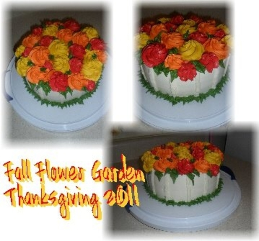 Fall Rosettes on Cake Central
