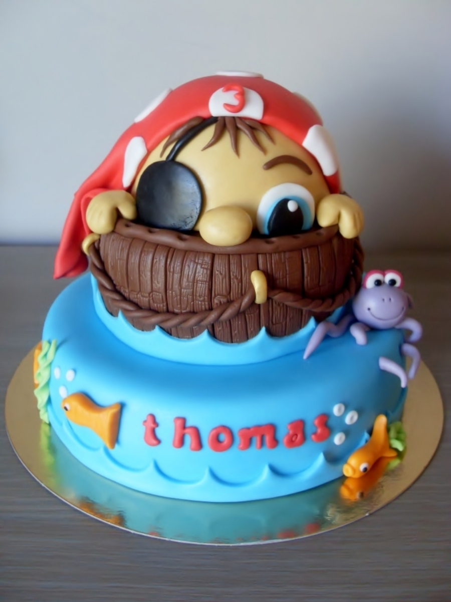 Little Pirate Birthday Cake - CakeCentral.com