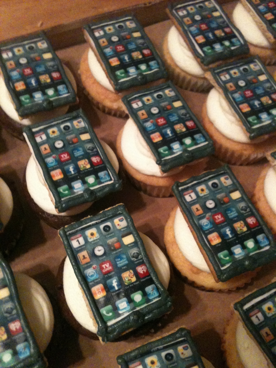 Iphone Cupcakes on Cake Central