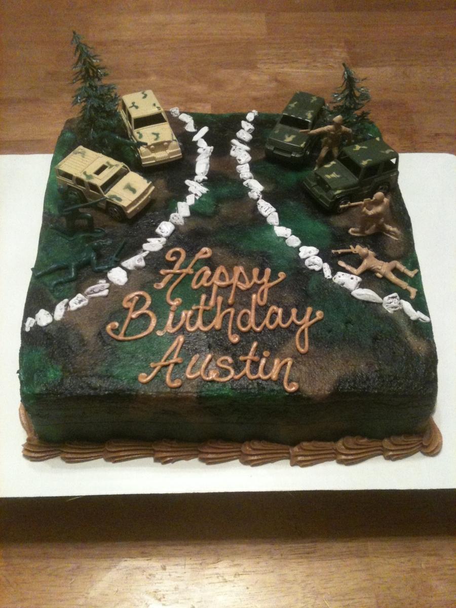 Army Camo Birthday Cake Ideas