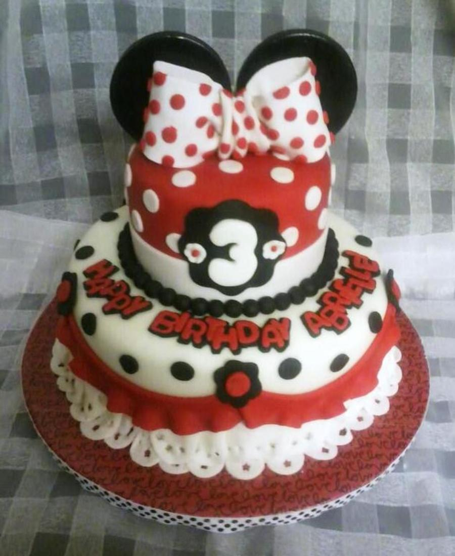 Minnie Mouse Cake For A Beautiful 3 Year Old It Was