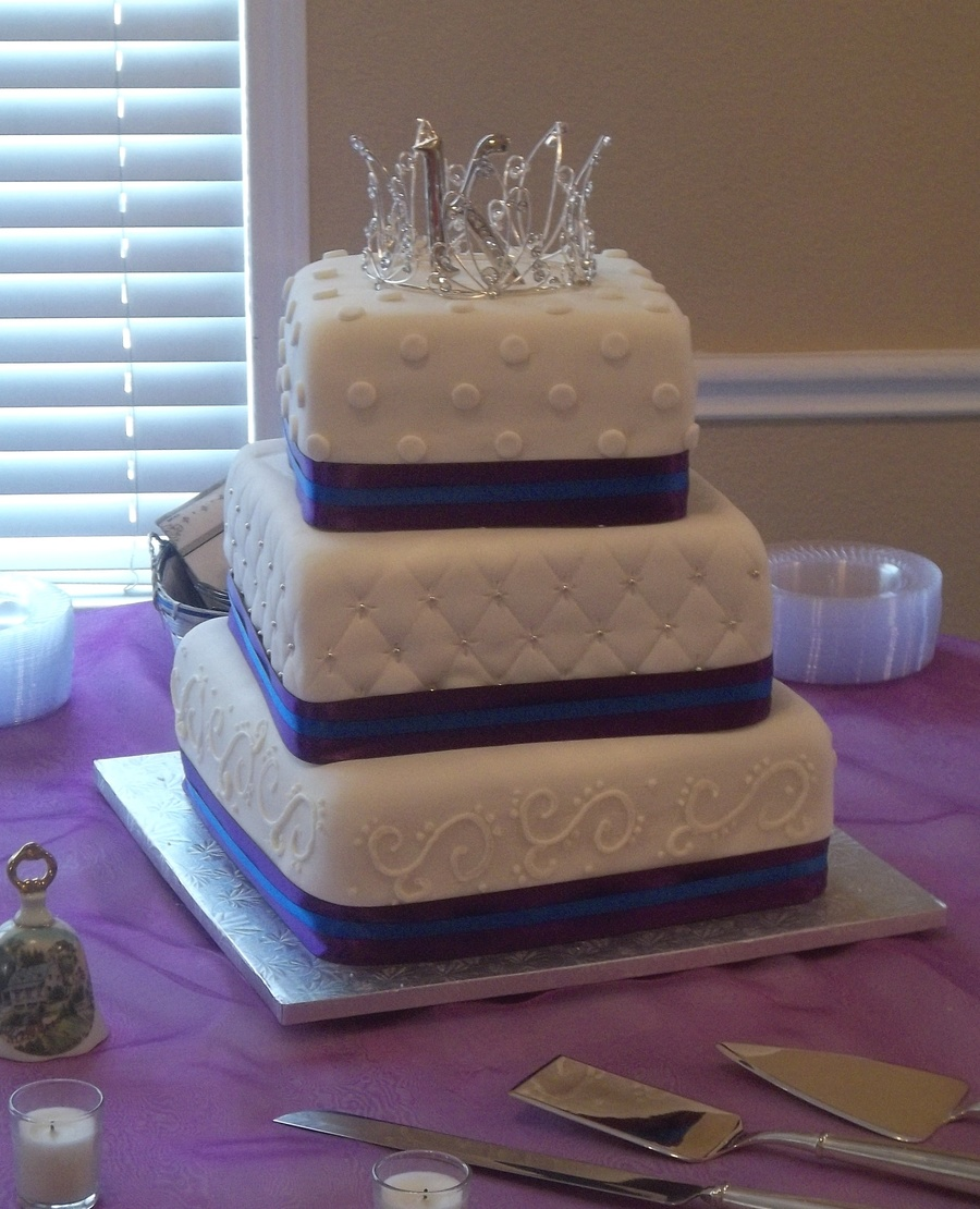 Wedding Cake Ideas Royal Blue: Royal Purple And Royal Blue Wedding Cake
