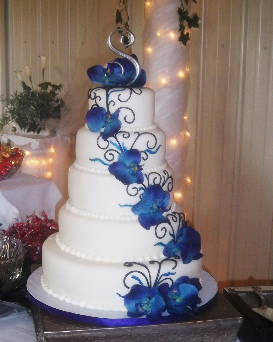 Wedding Cake Ideas Royal Blue: Cake For Peacock Wedding