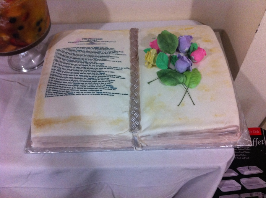 Bible Cake For Birthday on Cake Central