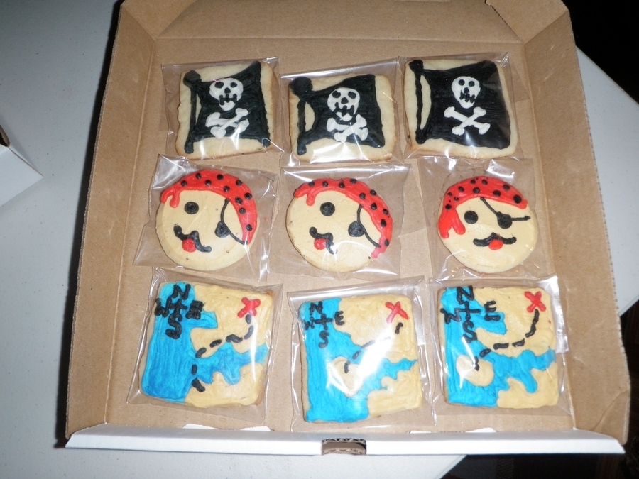Pirate Themed Sugar Cookies on Cake Central
