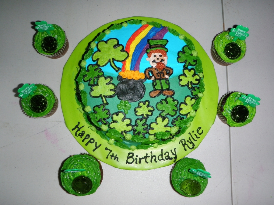 St. Patricks Day Themed Birthday Cake on Cake Central
