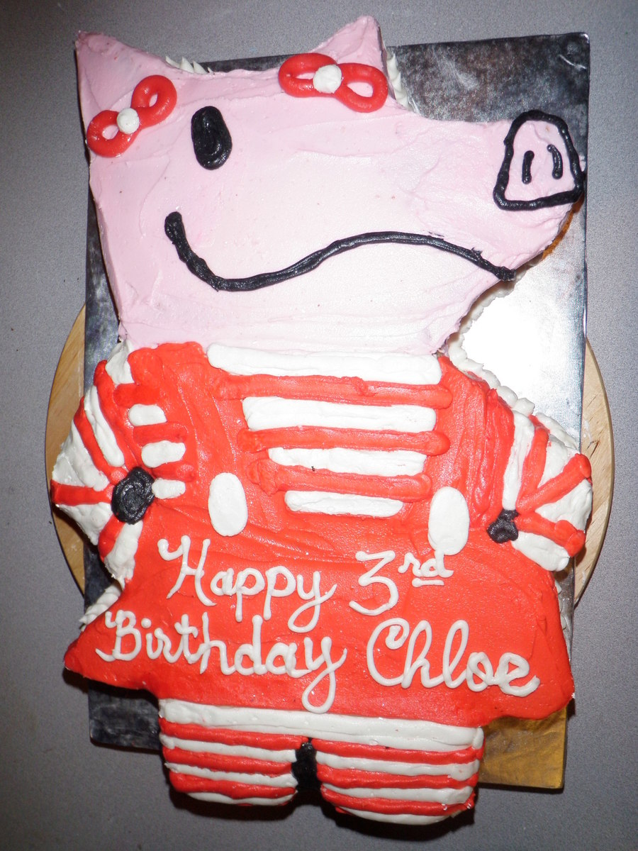 Olivia The Pig Shaped Cake on Cake Central