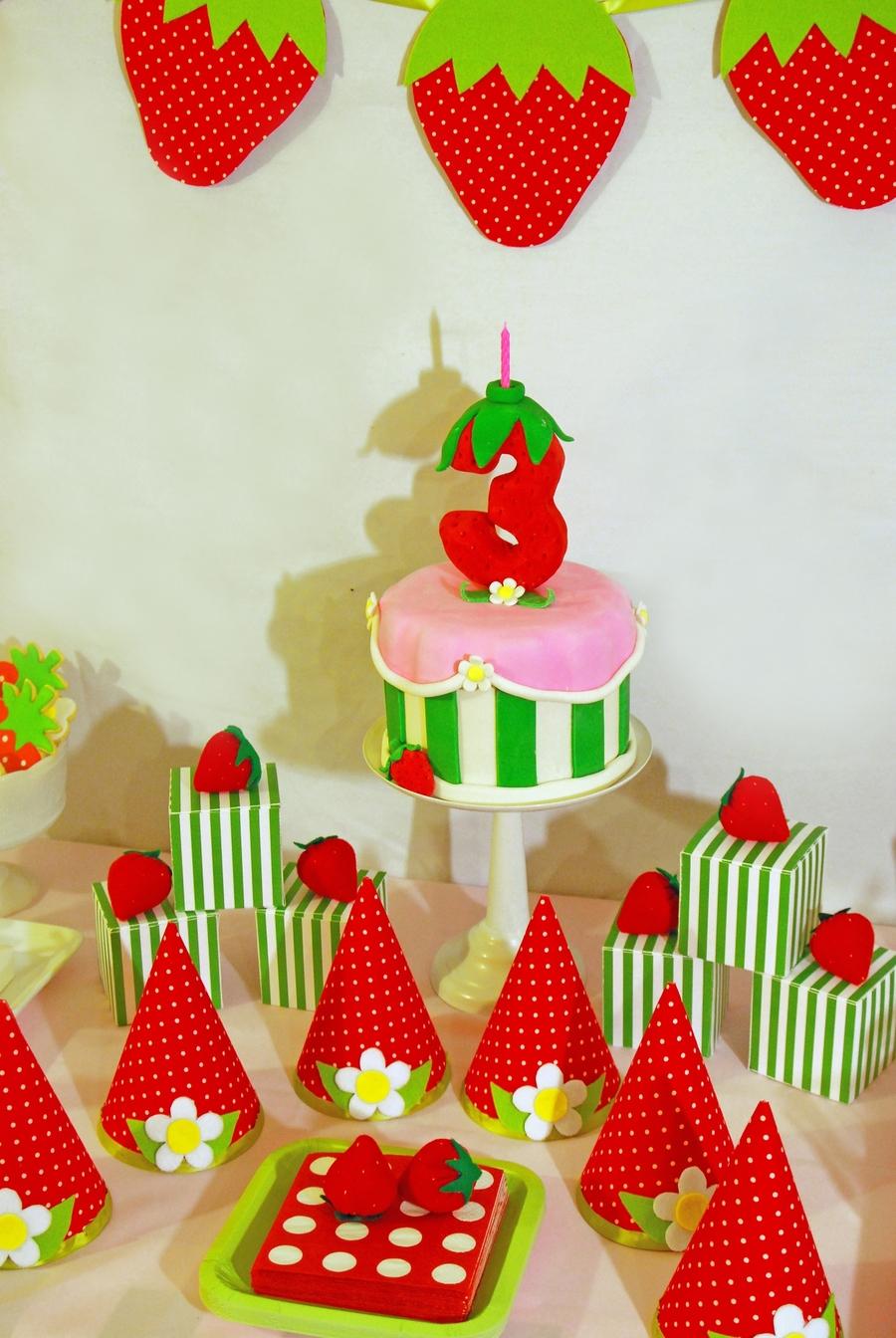 Strawberry Shortcake Birthday Cake And Dessert Table