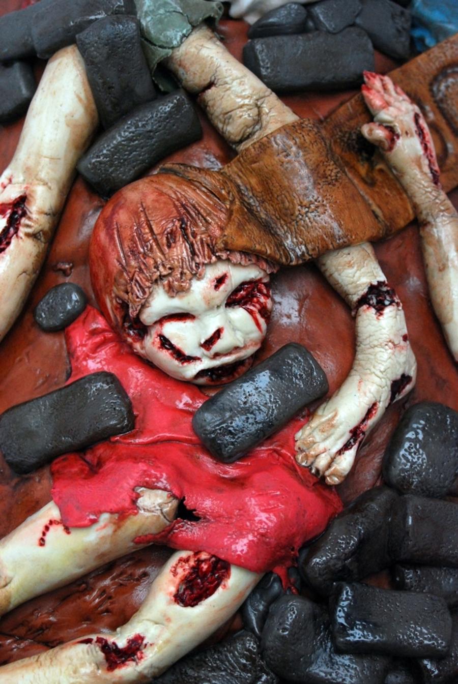 Baby Zombie Slayer Cake CakeCentralcom