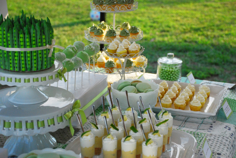 Green Summer Dessert Table Pea Pod Cakecentral Com
