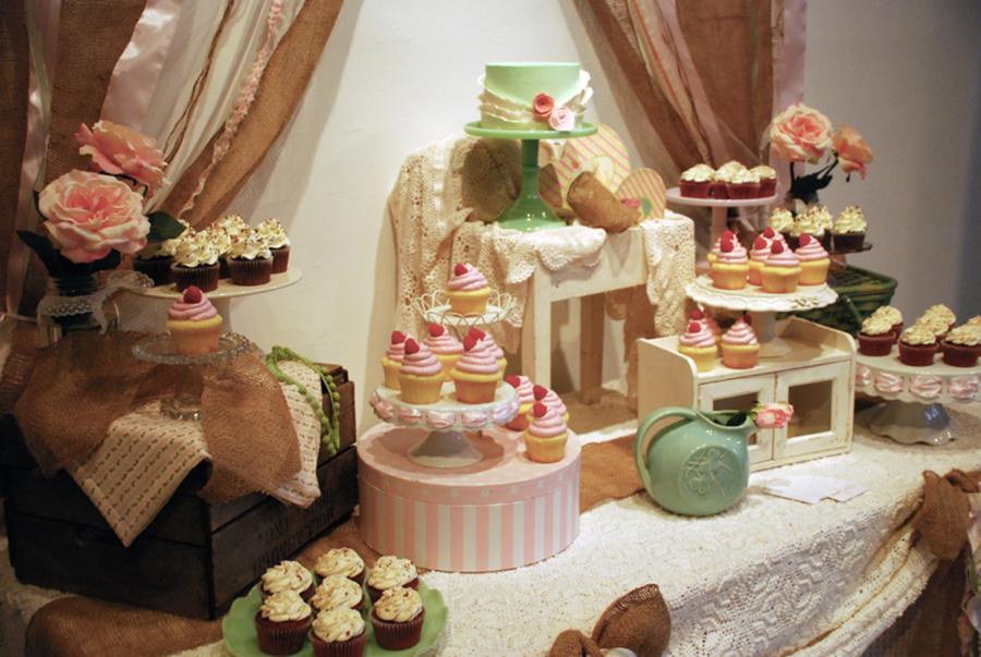 Shabby Chic Wedding Shower Cakes