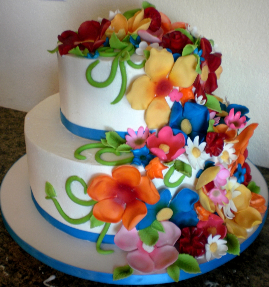 Flower Girl Dress Wedding Cake on Cake Central