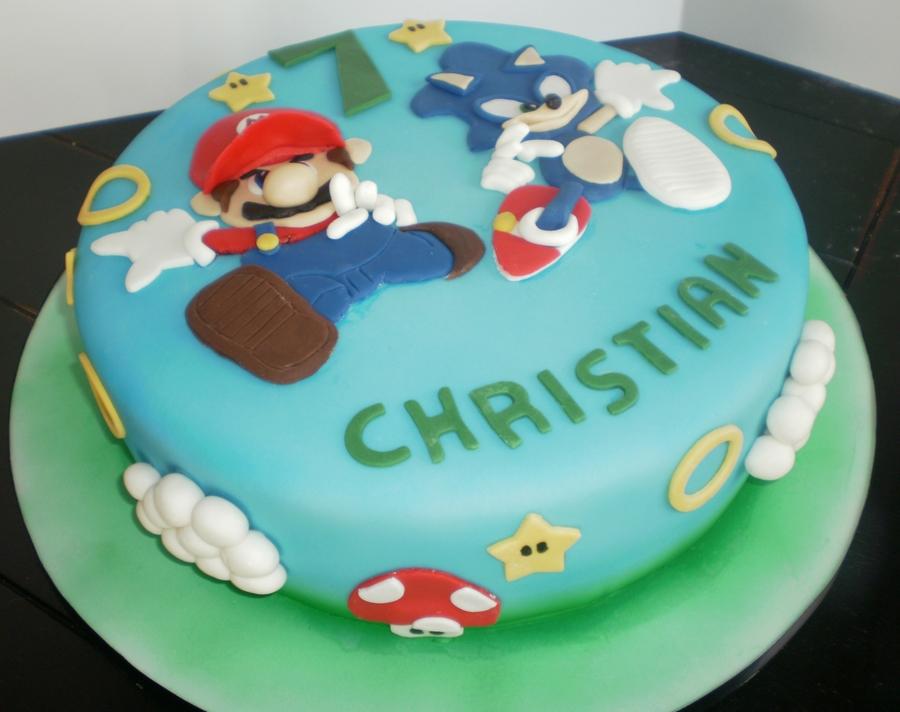 Mario And Sonic Birthday Cakes