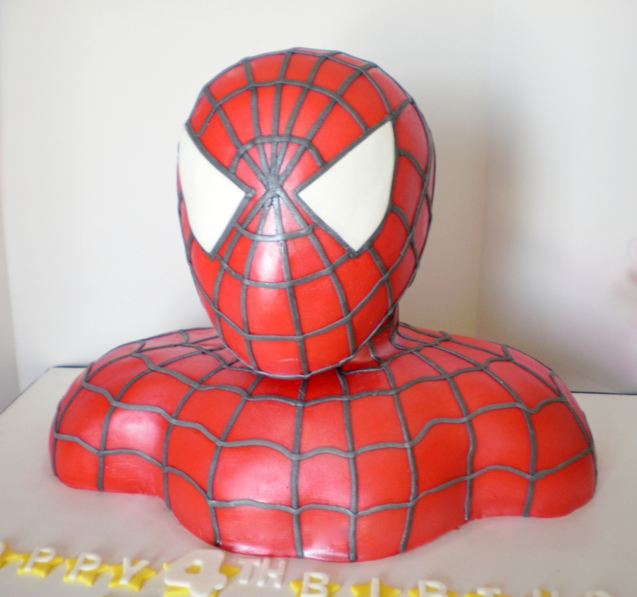 3-D Spiderman on Cake Central