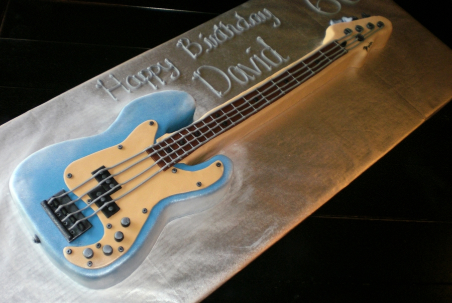 Bass Guitar on Cake Central