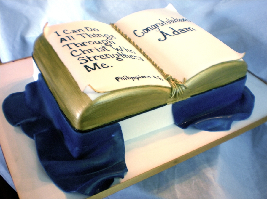 Bible Confirmation Cake on Cake Central