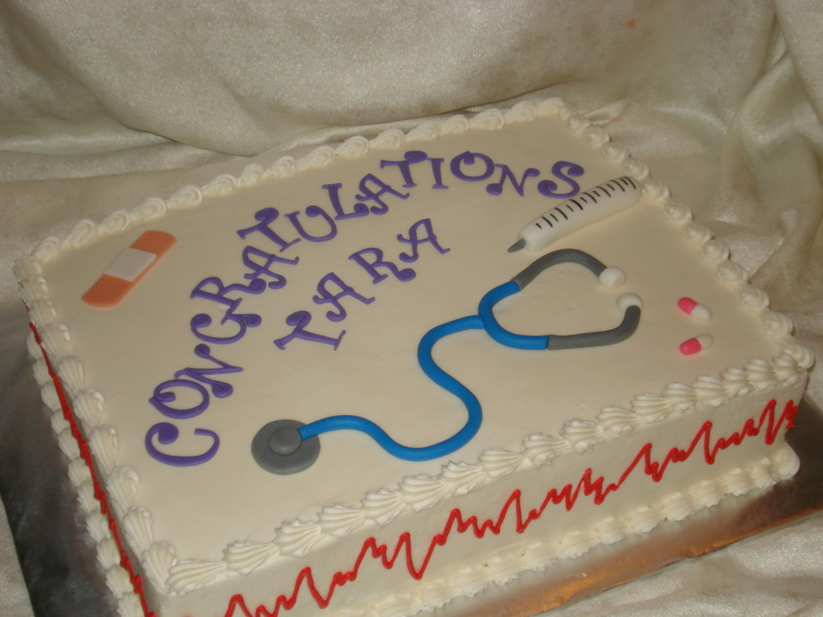 Graduation Nursing Student on Cake Central