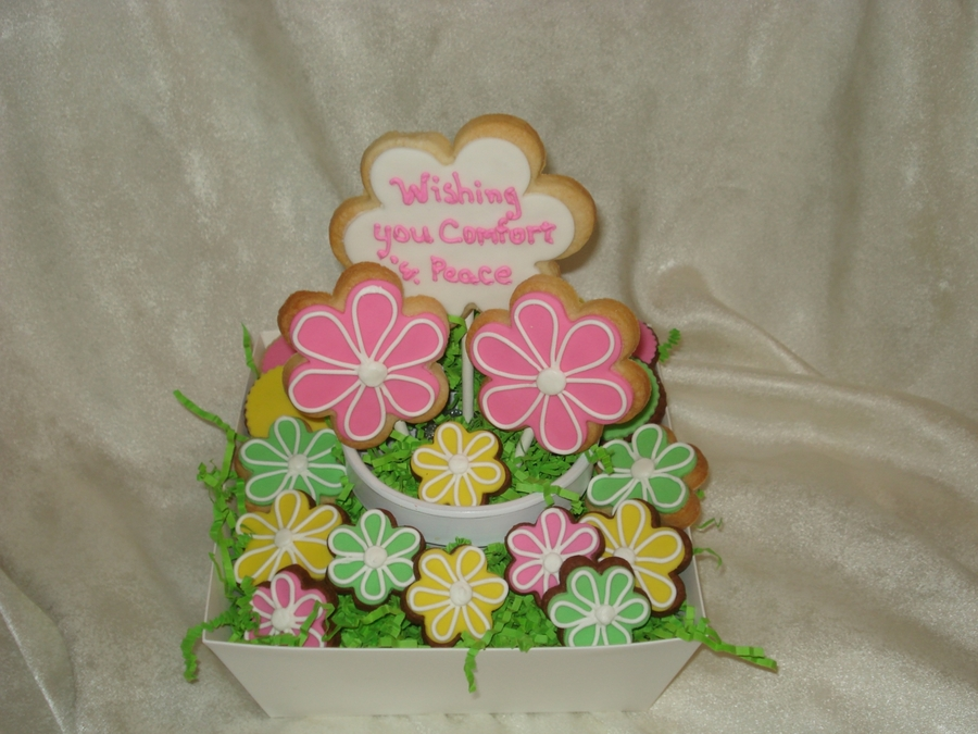 Sympathy Cookie Bouquet on Cake Central