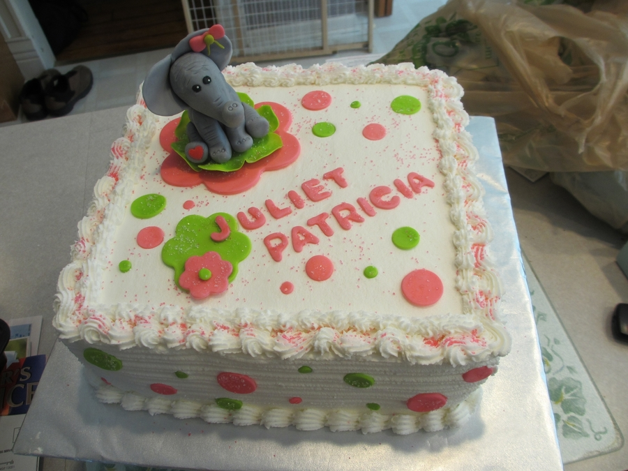 Elephants And Polka Dots  on Cake Central