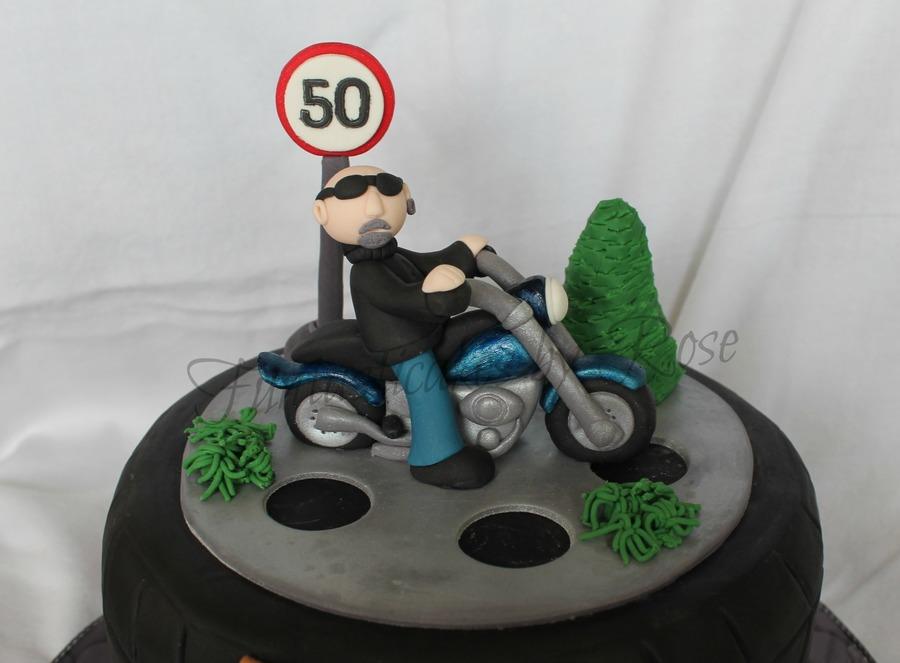 Fondant Motorbike Cake Topper