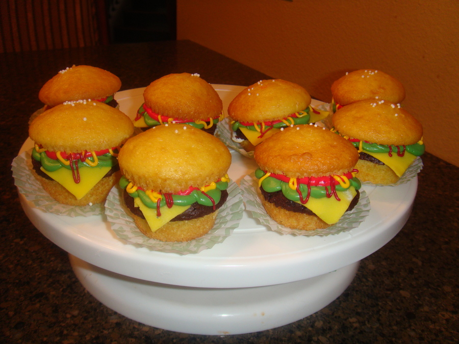 Hamburger Cupcakes on Cake Central