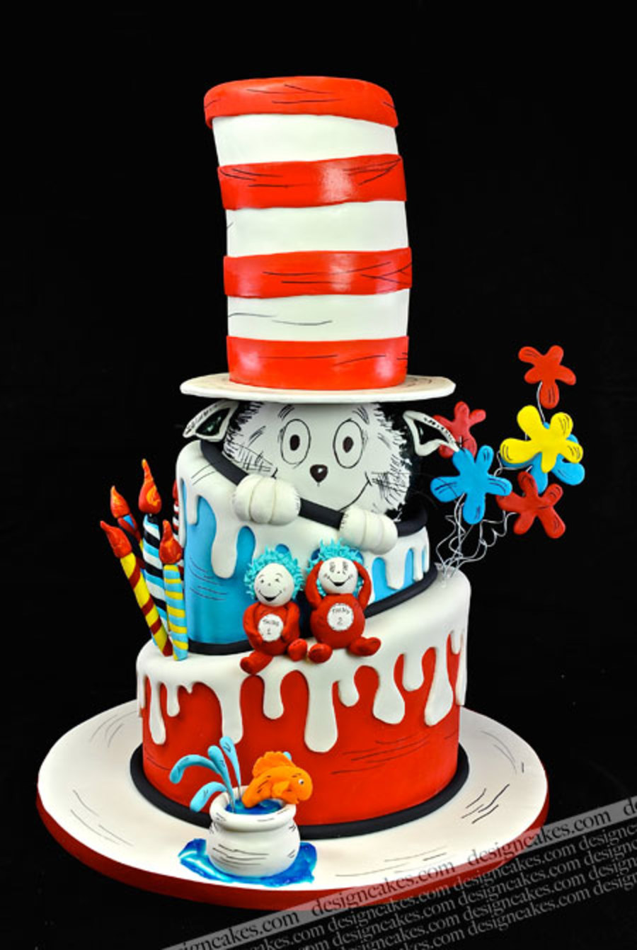 Cat In The Hat Cake - Dr.seuss Cake - CakeCentral.com