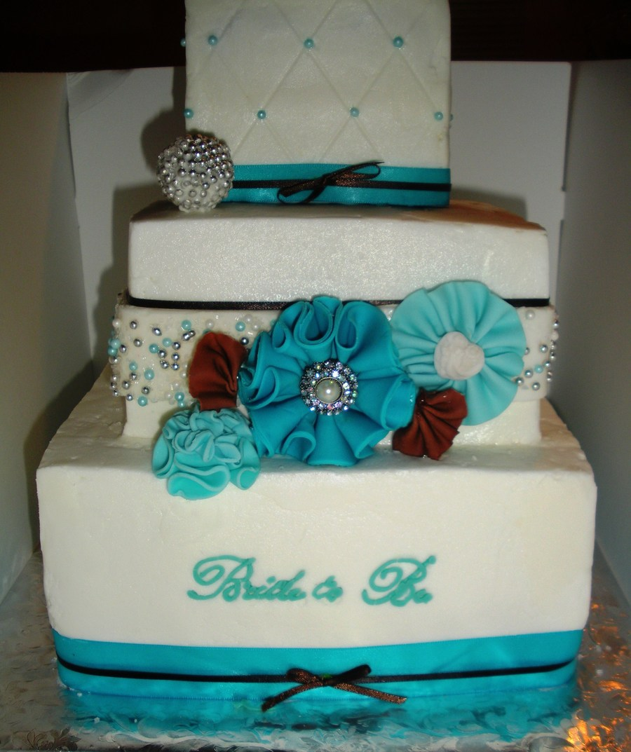 Buttercream With Fondant Accents And Satin Ribbon on Cake Central