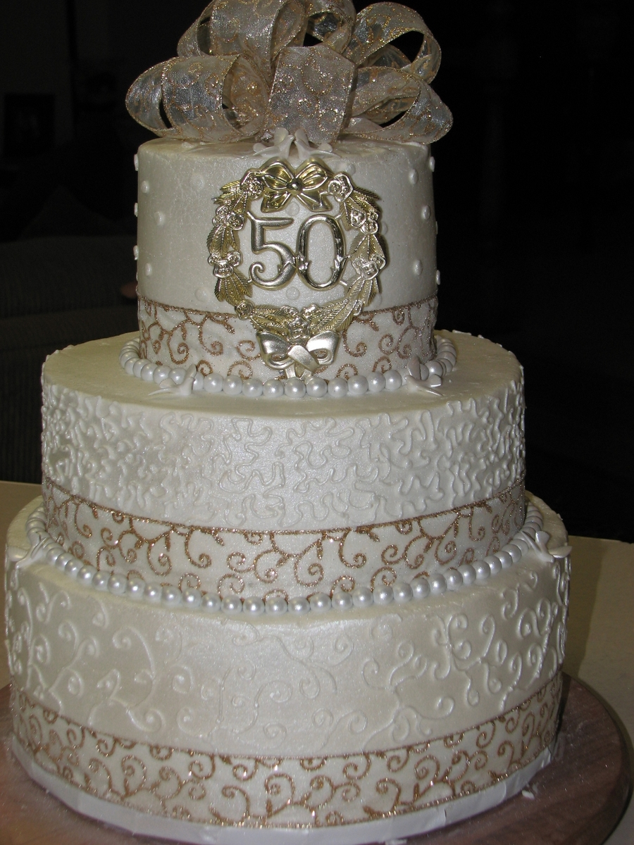 50th Wedding Anniversary Cakecentral Com